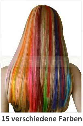 Bunte Clip-in Extensions